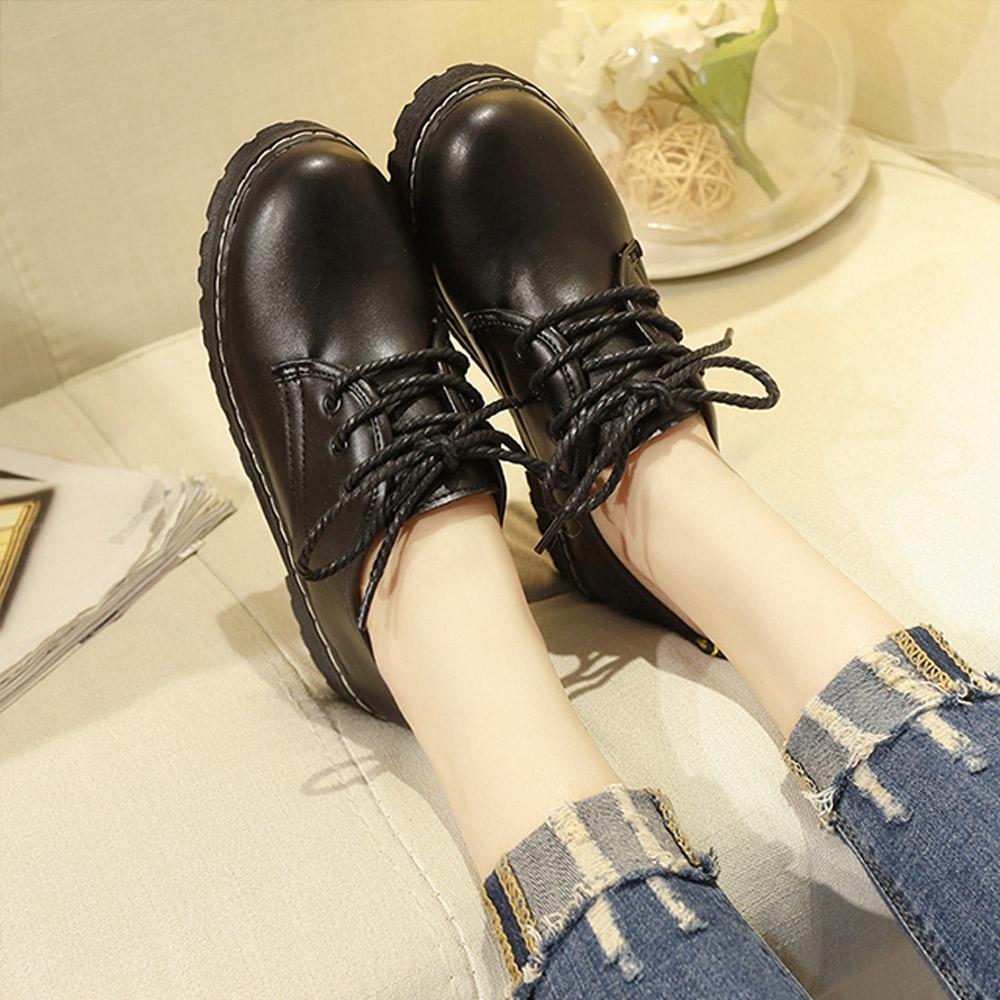 KEITH-WILL時尚鞋館-獨賣韓風質感皮鞋(皮鞋/馬丁靴)(共1色) (黑色)