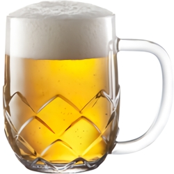 《TESCOMA》菱紋啤酒杯(300ml)