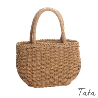 森林系草編織束口手提包 TATA