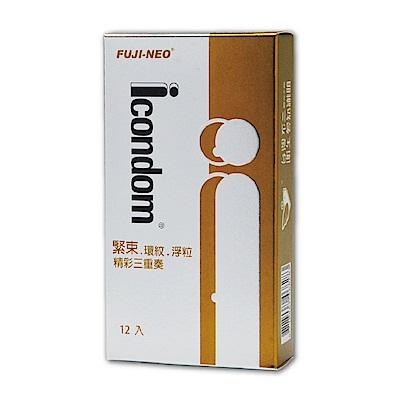 FUJI-NEO ICONDOM 艾康頓 精采三重奏 衛生套 保險套  12 入