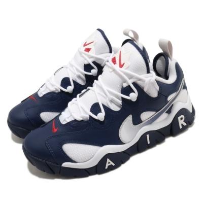 Nike 籃球鞋 Air Barrage Low 男鞋 復古 舒適 球鞋 穿搭 舒適 運動 藍 白 CN0060400