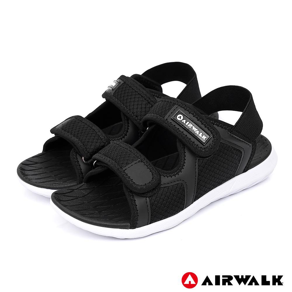 【AIRWALK】網往相連休閒涼鞋-女款-黑色