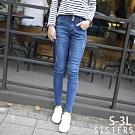 超細美腿收腹窄管長褲牛仔褲(S-3L) SISTERS