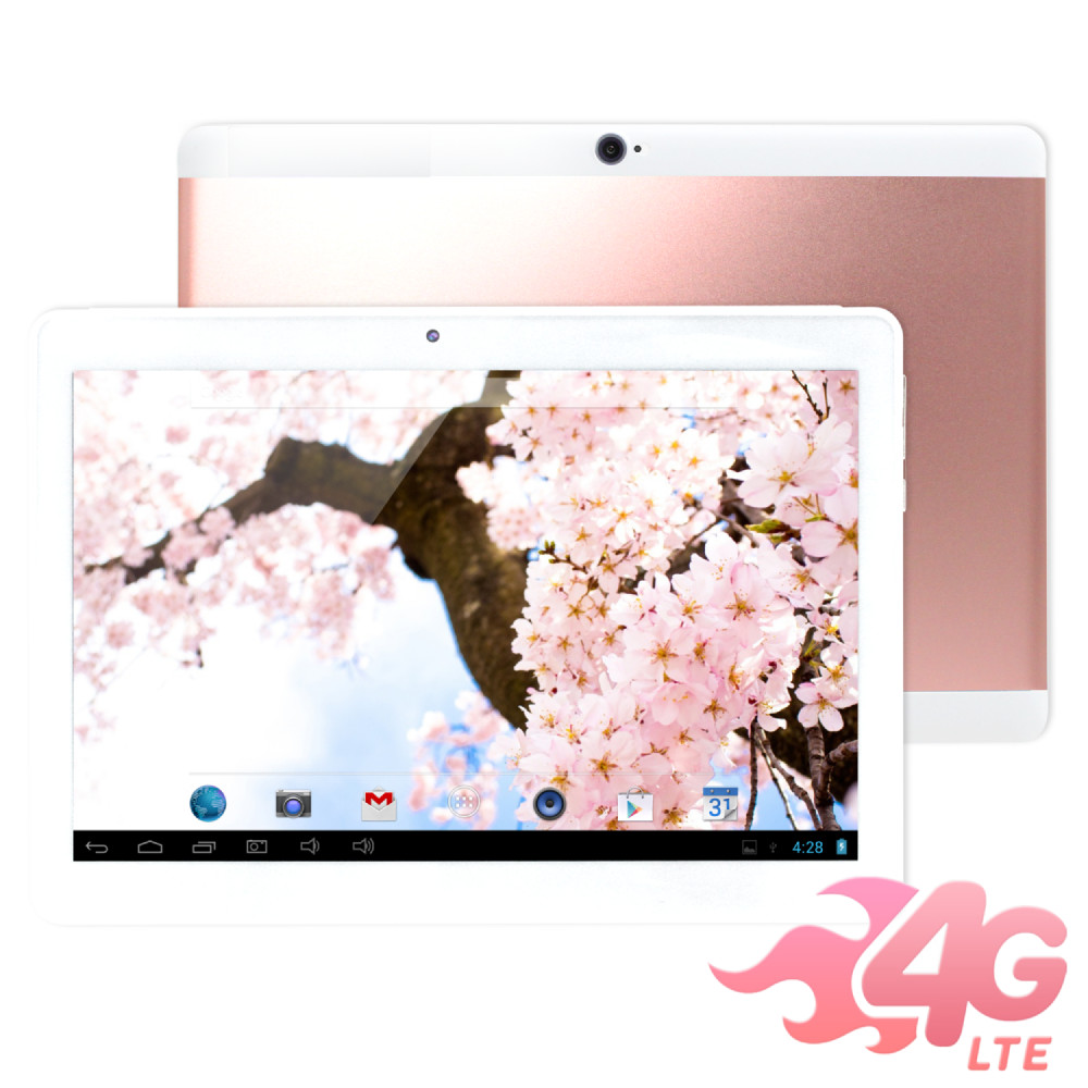 IS愛思 奇蹟覺醒 玫瑰金 10.1吋八核心4G LTE通話平板電腦(4G/32G)