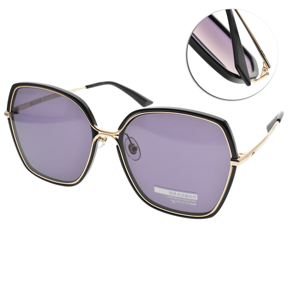MOLSION偏光太陽眼鏡 Angelababy代言 大框款/黑金 #MS6063 C10