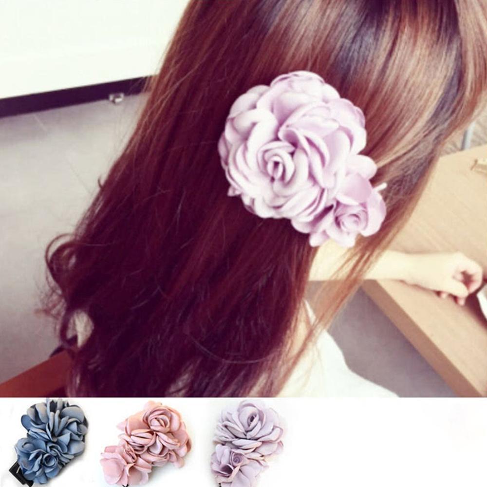 【Hera】赫拉 唯美大山茶花朵髮夾/邊夾-粉色
