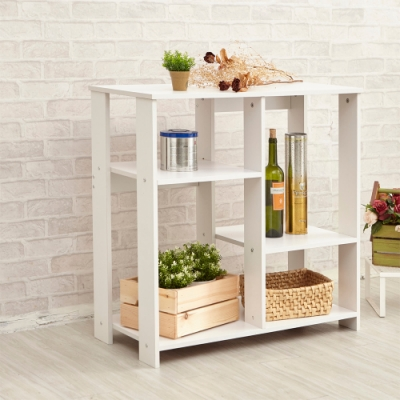 H&R安室家 廚房 客廳 玄關 木質收納櫃BCF41