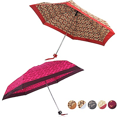 COACH 經典滿版LOGO輕便晴雨傘-7款 任選 $1380