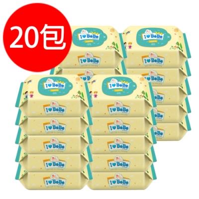 韓國ilovebebe 純水加厚濕紙巾隨身包(20抽x20包)
