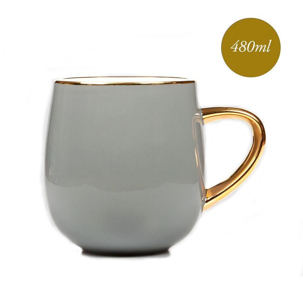 Royal Duke 福氣骨瓷馬克杯/早餐杯480ml -思念濃濃(灰玉色)