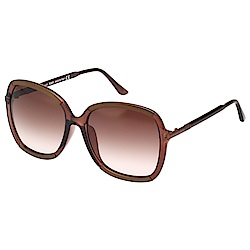 TOD'S 經典款 太陽眼鏡(透明咖啡色)TO0183F