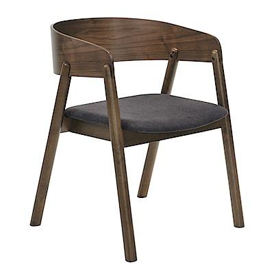 品家居 莉亞特亞麻布實木餐椅2入組合-55x58x73cm免組
