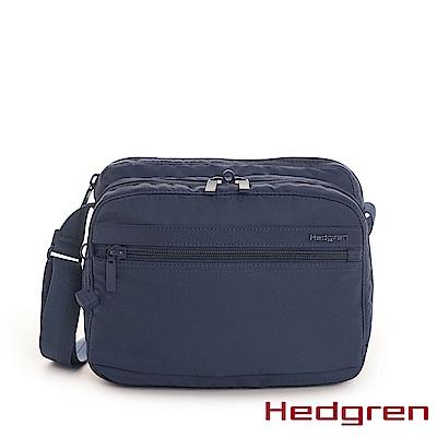 【Hedgren】INNER CITY層層收納 側背包-寶藍