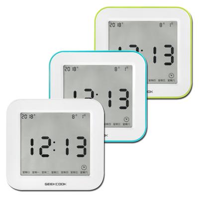 四面翻轉 多功能 鬧鈴 智能感光 倒數計時 溫度顯示 電子鬧鐘 - 三色任選