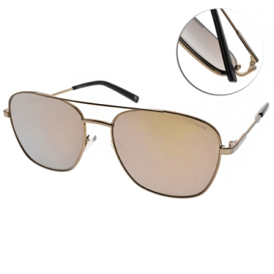 Polaroid 水銀偏光太陽眼鏡 時尚飛行款/復古金 #PLD2068SX 6LB5X