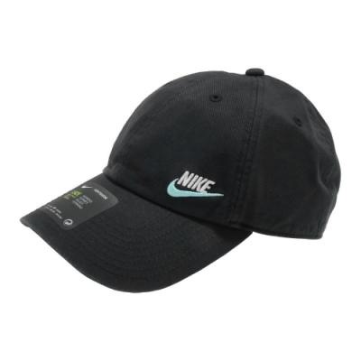 Nike 老帽 NSW H86 Cap 運動休閒 男女款 棒球帽 遮陽帽 穿搭 帽圍可調 黑 藍  AO8662017