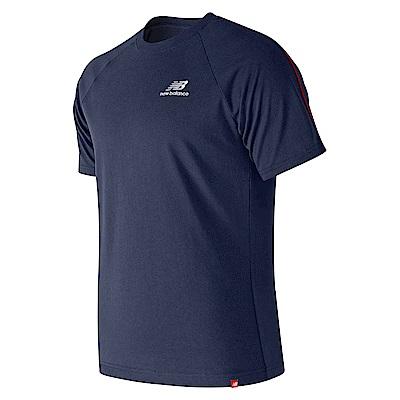 New Balance經典條紋滾邊短袖T恤AMT91540PGM_男_深藍