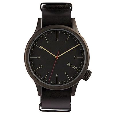 KOMONO Magnus 腕錶-性格黑/ 46 mm