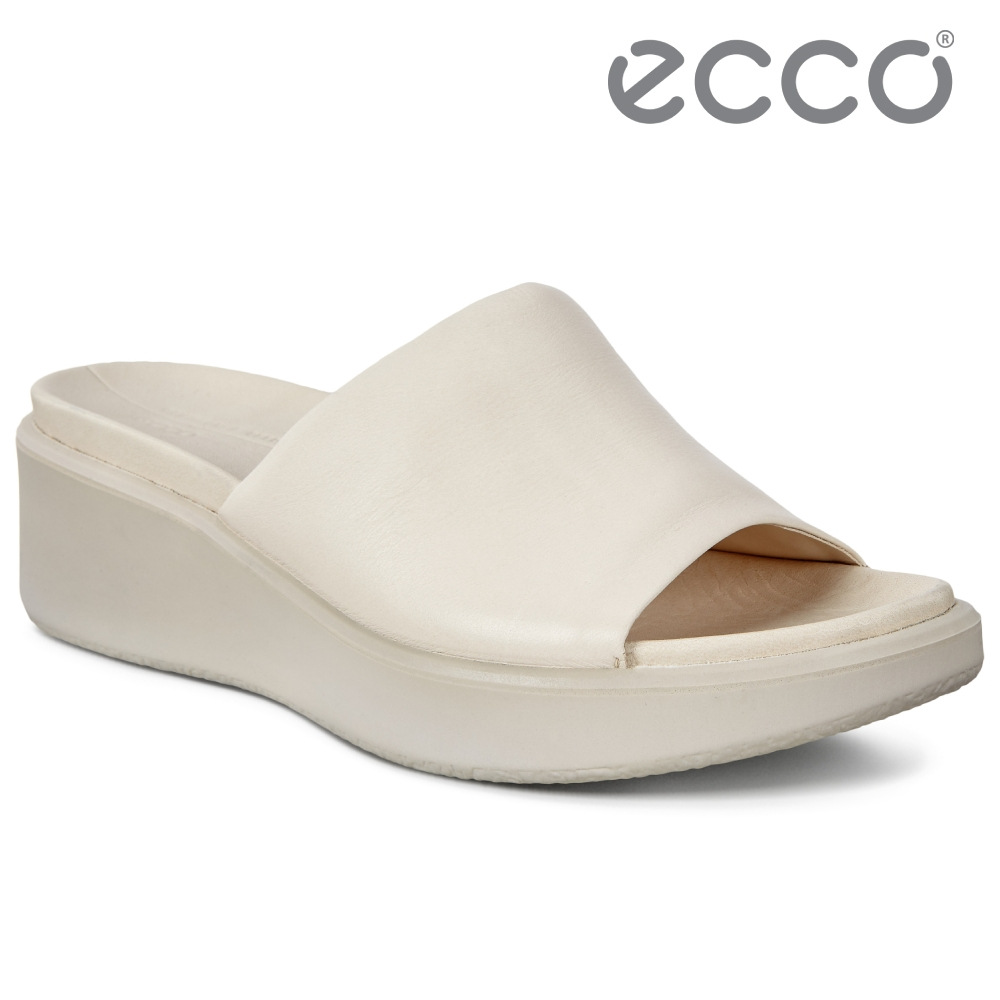 ECCO FLOWT WEDGE LX W 柔暢楔形厚底休閒拖鞋 女鞋 石灰色
