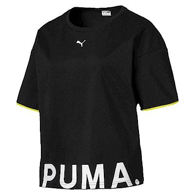 PUMA-女性流行系列Chase短袖T恤-黑色-歐規