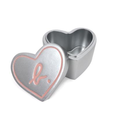 agnes b 愛心飾品收納盒/桌上置物盒(銀色)