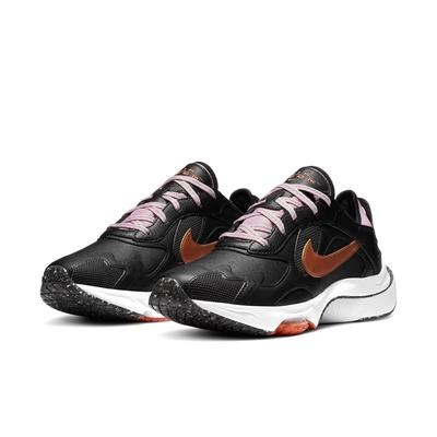 Nike 休閒鞋 Zoom Division 運動 女鞋 氣墊 舒適 避震 簡約 球鞋 穿搭 黑 金 CZ3753002