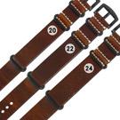Watchband / 各品牌通用 百搭款 柔軟舒適 油蠟牛皮錶帶 - 咖啡色
