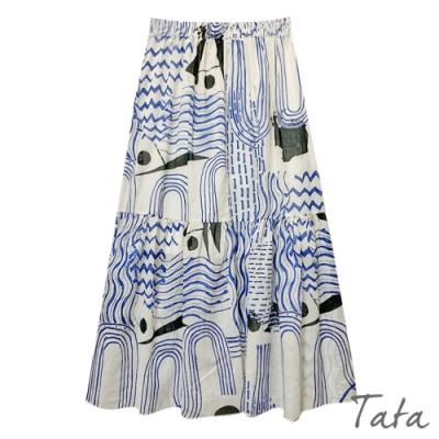 不規則圖印花裙 TATA-F