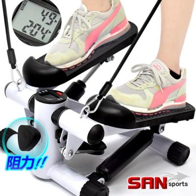 大角度有氧踏步機(可調阻力+送拉繩)  美腿機.上下踏步機