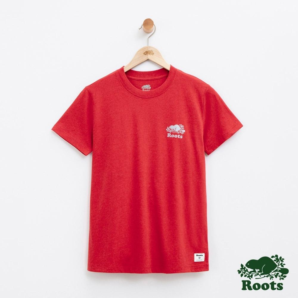 女裝Roots  BREATHE短袖T恤-紅