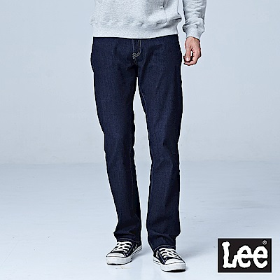 Lee 743中腰舒適直筒牛仔褲-深藍色