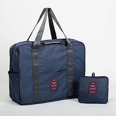 E.City_韓版復古風可折疊加厚加大拉桿行李包