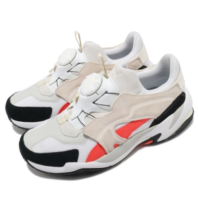 Puma 休閒鞋 Thunder Disc 男鞋 復古 轉盤 球鞋穿搭 緩震 米 黑 36935504