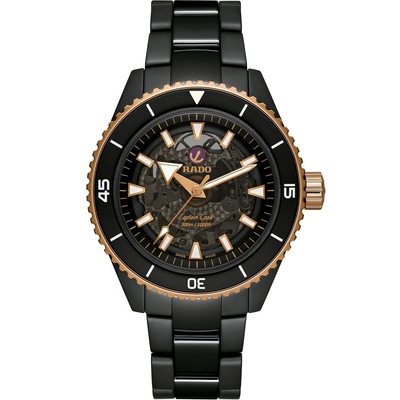 RADO雷達 庫克船長 CAPTAIN COOK HIGH-TECH CERAMIC機械腕錶 (R32127162)-43mm