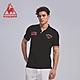 法國公雞牌短袖POLO衫 LON2314299-男-黑 product thumbnail 1