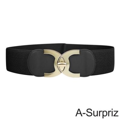 A-Surpriz 亮眼雙C旋轉扣彈性腰帶(3色選)