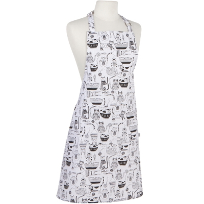 《NOW》平口單袋圍裙(貓派對)