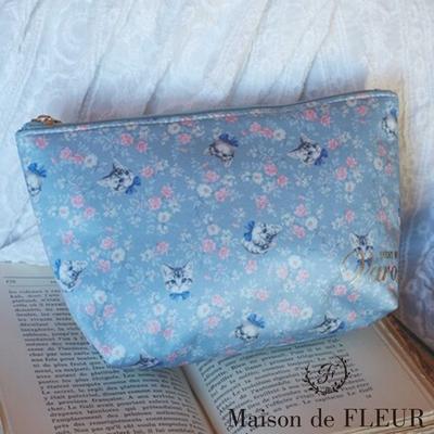 Maison de FLEUR  SCENT OF Varo系列-貓咪印花手拿包