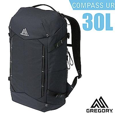 美國 GREGORY Compass UR 30L 全開式減震透氣登山後背包_黑/碳