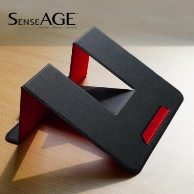 SenseAGE 攜帶型可收納式筆電散熱墊高支架(黑紅色系)