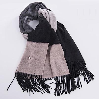 ELLE法式浪漫羊毛羊絨親膚保暖披風