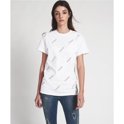 ONETEASPOON SIGNATURE TEE 白 字母上衣-女