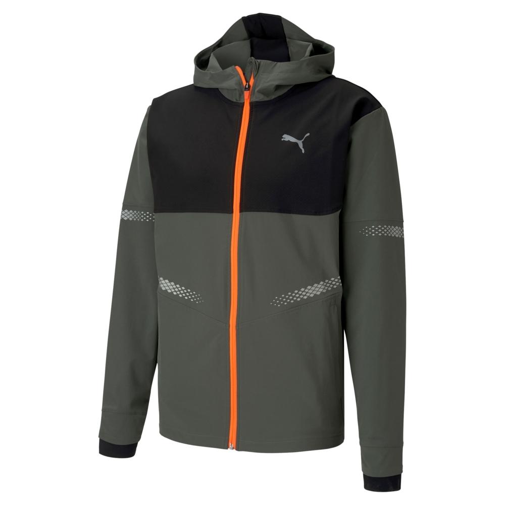 PUMA-男性慢跑系列Runner ID連帽風衣外套-百里香綠-歐規