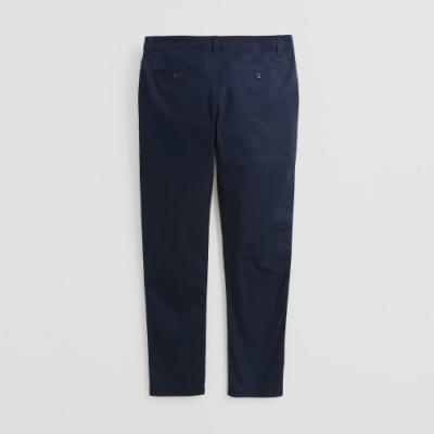 Hang Ten - 男裝 - 簡約修身純色休閒長褲 - 藍
