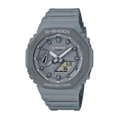 CASIO卡西歐 G-SHOCK 簡約獨特 大地灰 八角型錶殼 GA-2110ET-8A_45.4mm