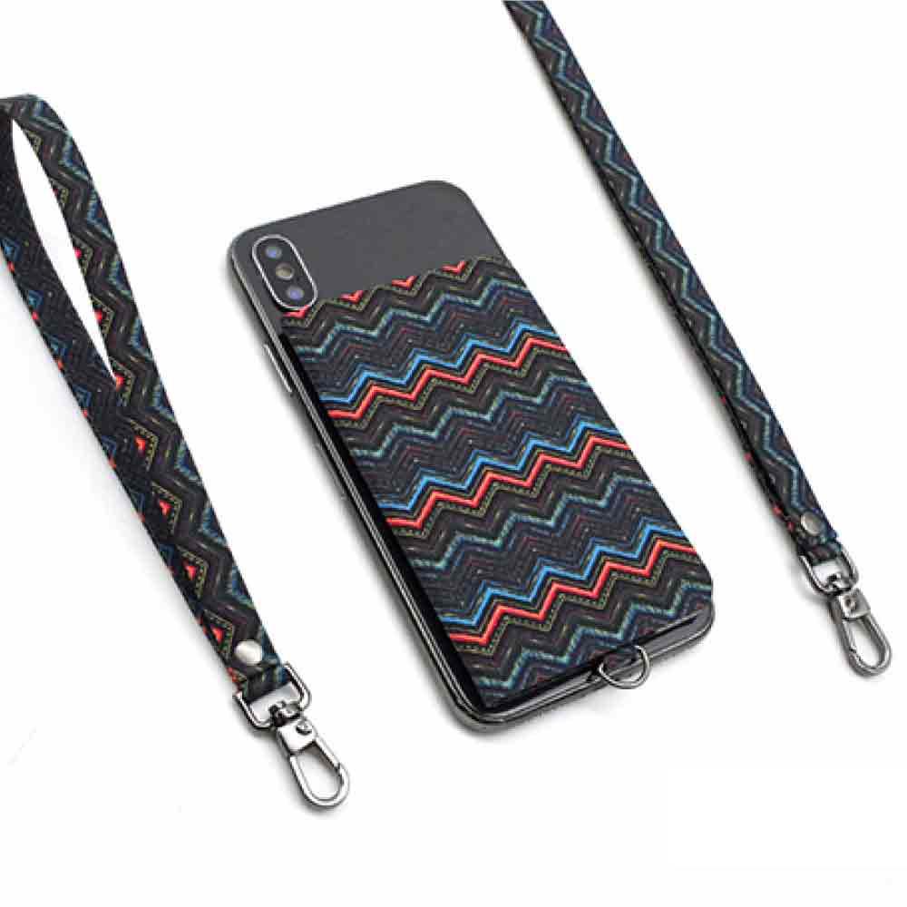 【ekax】手機背貼卡片夾/長頸繩/短手腕繩(牛津紋)