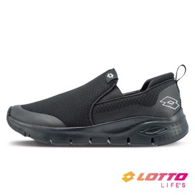 LOTTO 義大利 男 EASY WEAR 透氣健步鞋(黑)