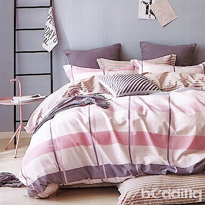 BEDDING-專櫃純棉3.5尺單人薄式床包涼被三件組-都市情懷