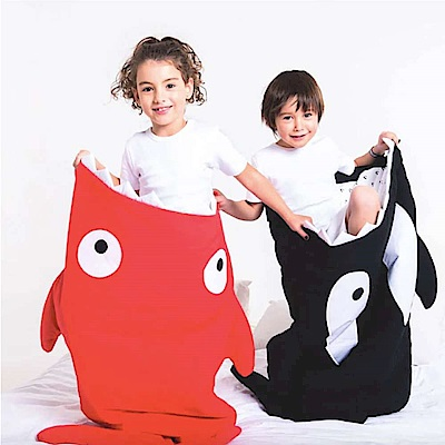 【兒童標準版-喜氣紅】BabyBites西班牙鯊魚咬一口多功能睡袋