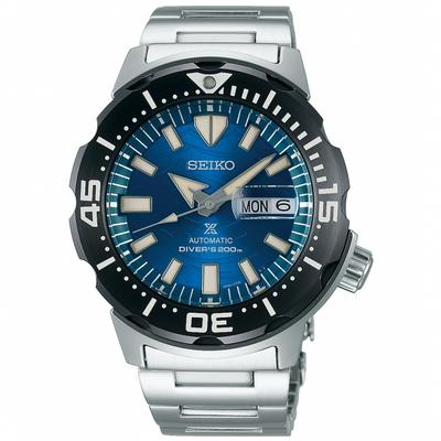 SEIKO精工 Prospex DIVER SCUBA 愛海洋200米潛水機械錶 4R36-08B0B(SRPE09J1)-銀x藍/42.4mm